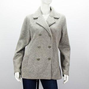 TALBOTS Fleece Pea Coat